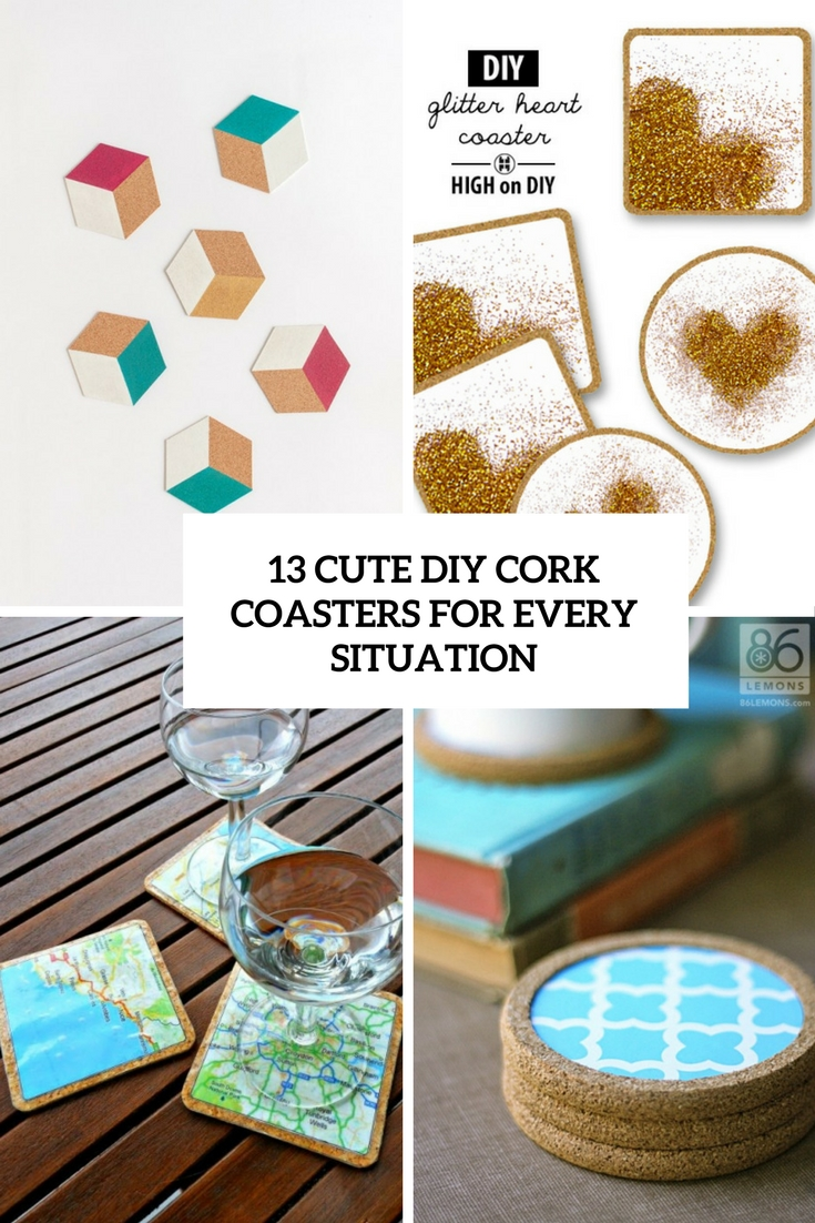 13 Cute DIY Cork Coasters For Every Situation - Shelterness