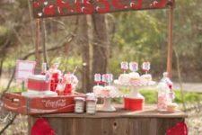 13 dessert bar as a kissing booth is a fun idea