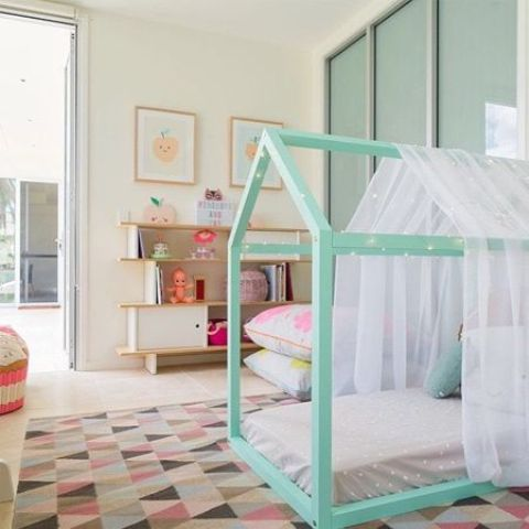 if your girls needs some privacy, she can always cover the frame bed with some tulle