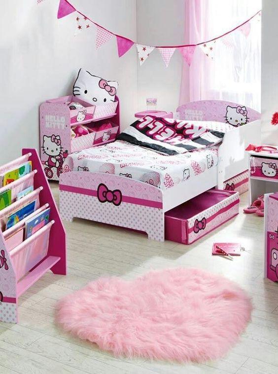 sweet  kitty kids room decor ideas shelterness
