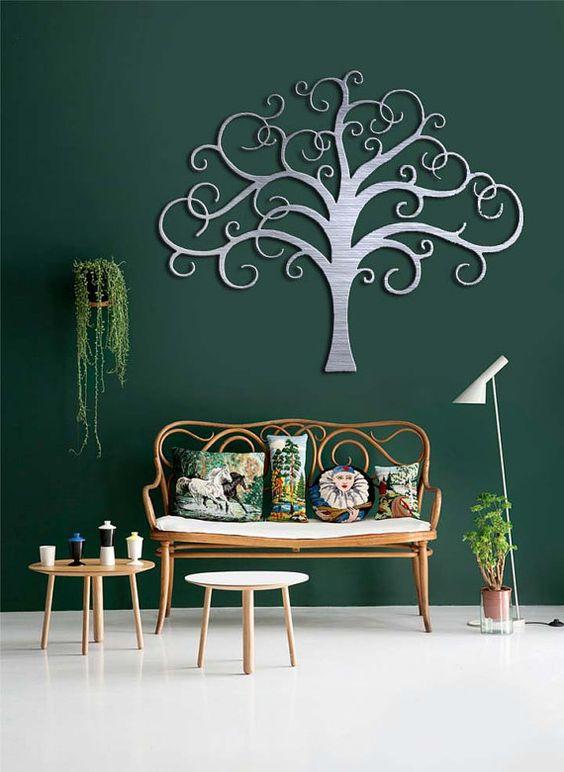 large tree metal wall art