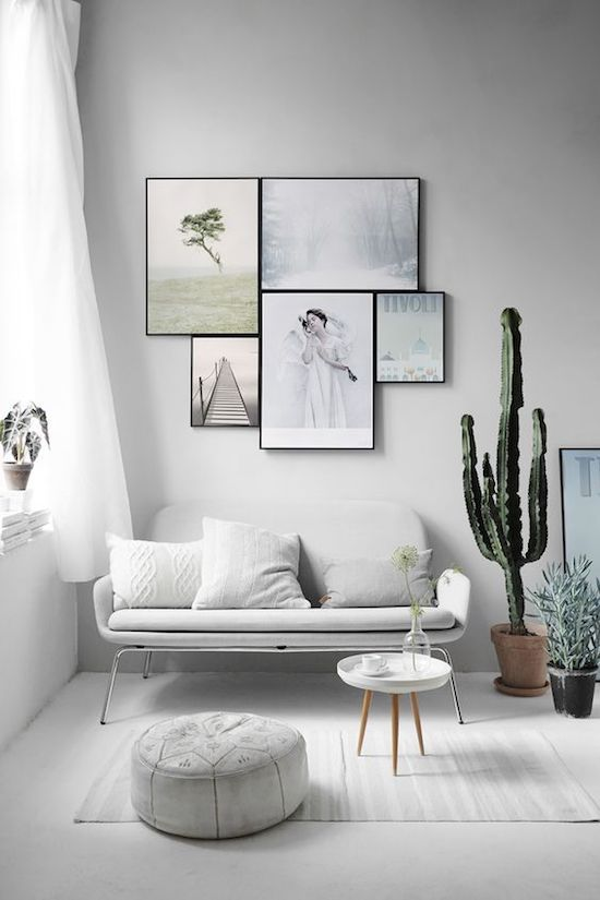 minimalist white living room with furniture on thin legs is a great idea