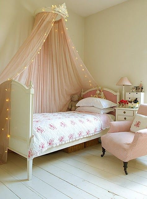 pink canopy with lights incorporated