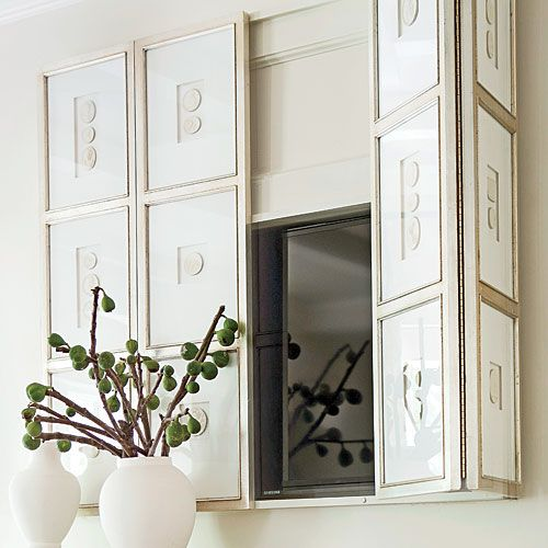 frames mounted with piano hinges