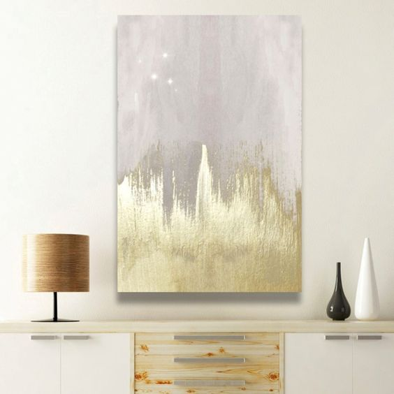 21 creative wall art ideas to spruce up your space for Gold wall art