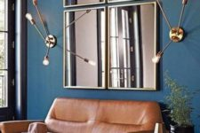 19 stylish framed mirror composition for enlarging the space