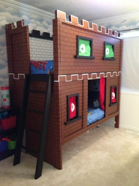 Mario bunk bed castle is great for two boys