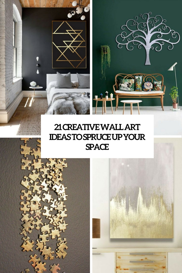 21 creative wall art ideas to spruce up your space - shelterness