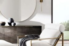 21 stylish large round mirror is a great accessory for a modern living space