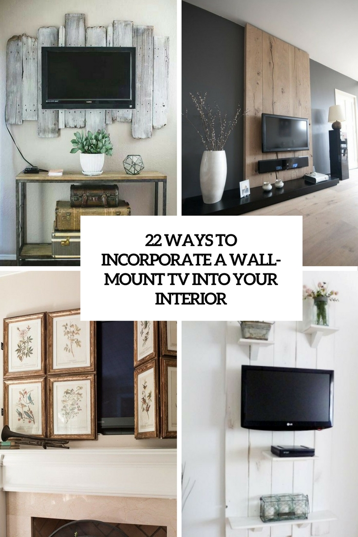 22 Ways To Incorporate A Wall-Mount TV Into Interior