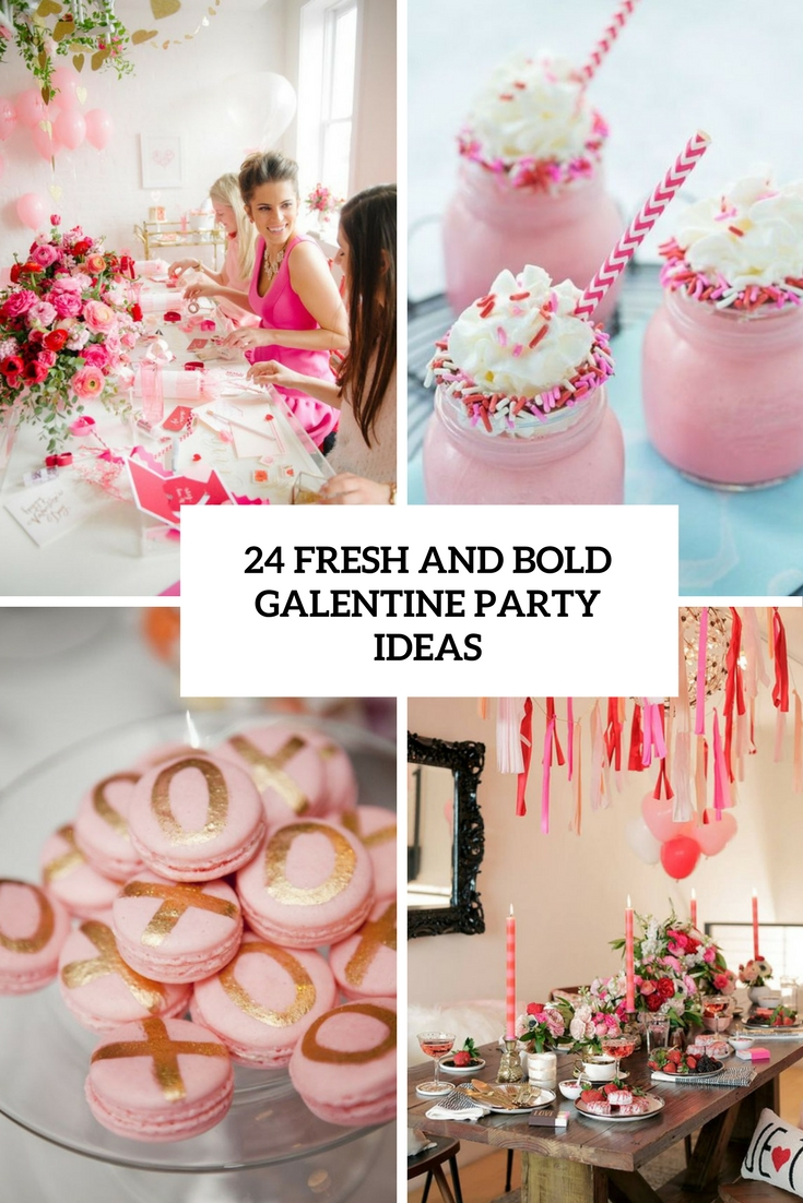 fresh and bold galentine party ideas cover