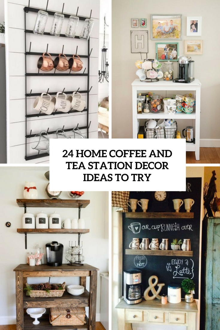 24 home coffee and tea station d cor ideas to try for Home decor ideas at home
