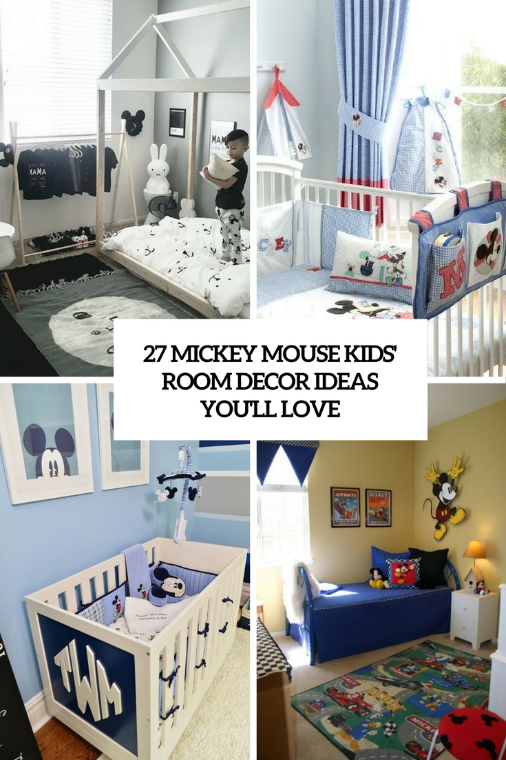 27 mickey mouse kids room d cor ideas you ll love shelterness rh shelterness com mickey mouse themed toddler room mickey mouse toddler room