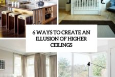 6 ways to create an illusion of higher ceilings cover