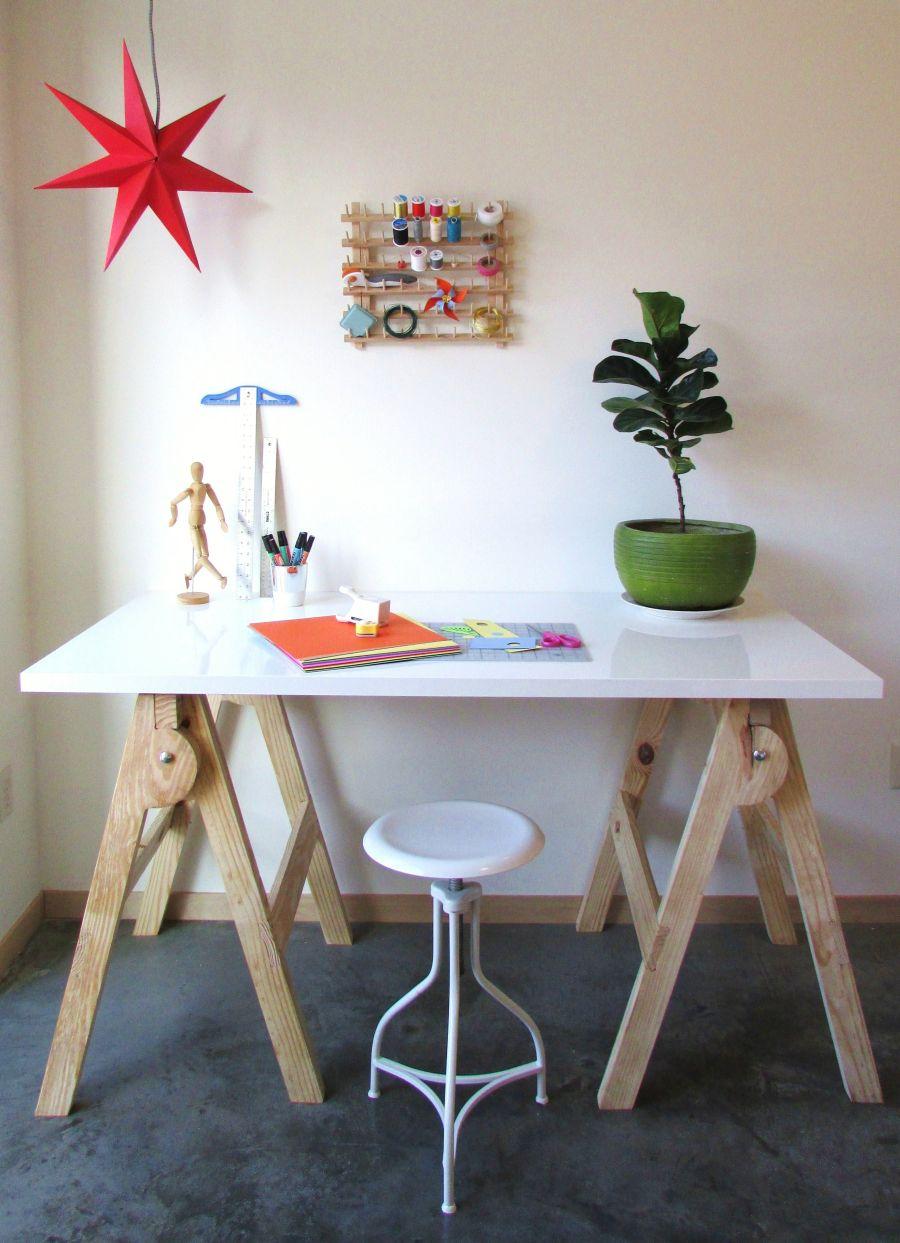 DIY modern crafting desk