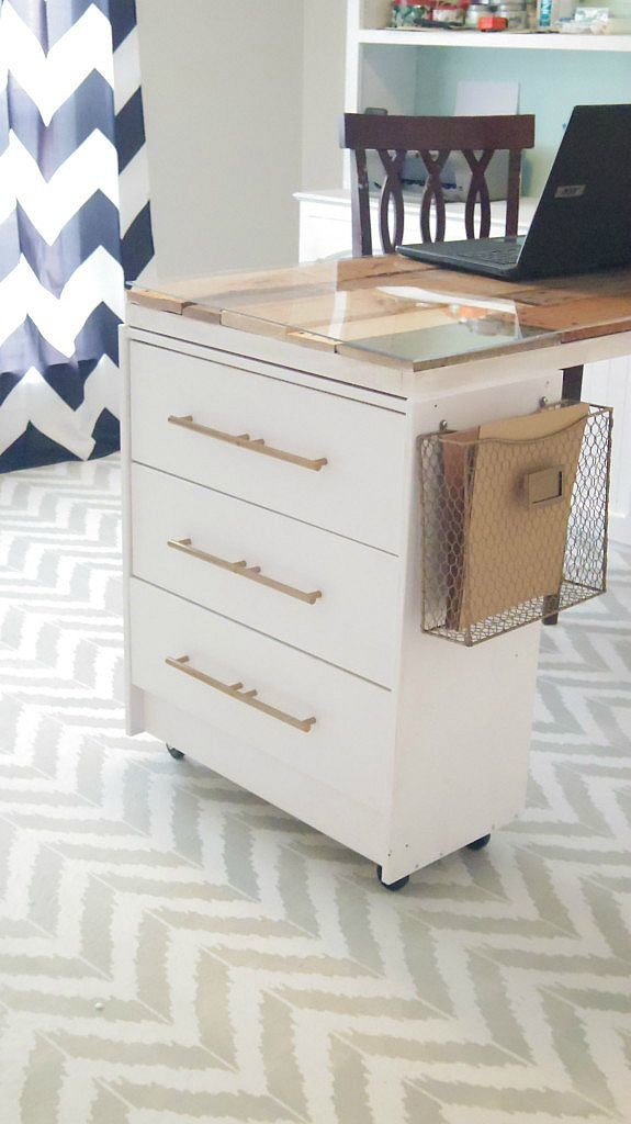 DIY IKEA Rast hack into a craft table (via addisonmeadowslane.com)