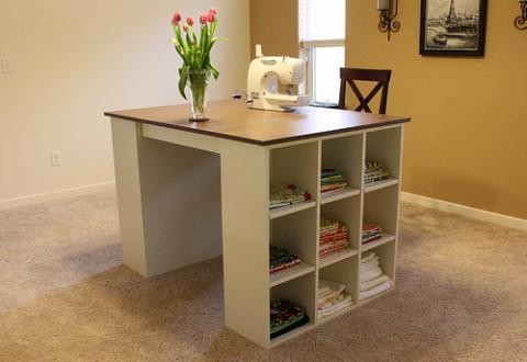 DIY modular craft table (via www.ana-white.com)