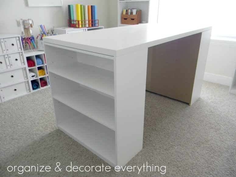 DIY craft table for just $55 (via organizeyourstuffnow.com)