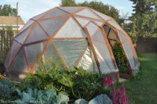 DIY GeoDome greenhouse