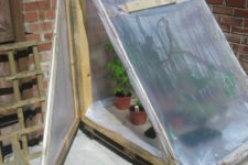 DIY greenhouse of pallets