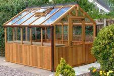 DIY barnwood greenhouse