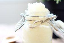 DIY scented lavender vanilla sugar scrub