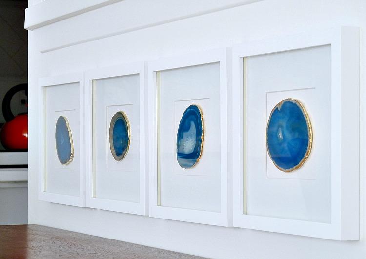 DIY blue agate slice wall art (via www.danslelakehouse.com)