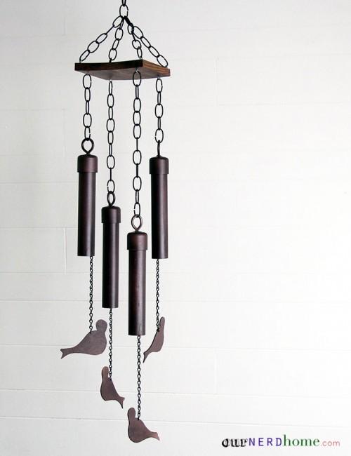 DIY birdie wind chimes