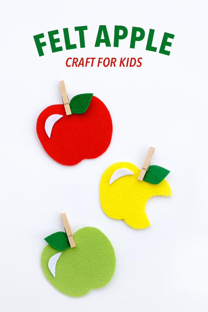 DIY felt clothespins apples for kids (via www.firefliesandmudpies.com)