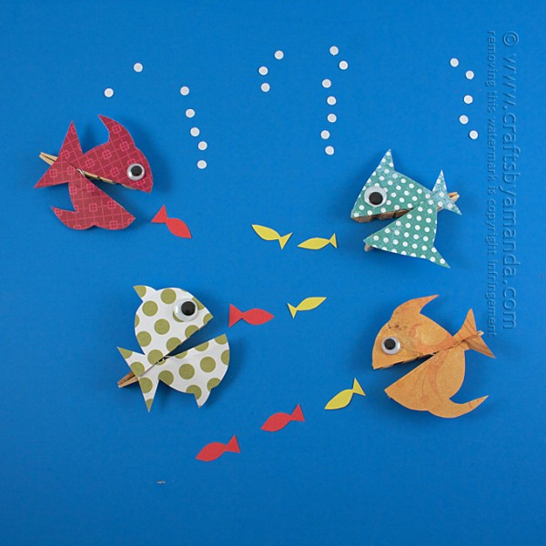 DIY clothespin fish craft (via craftsbyamanda.com)