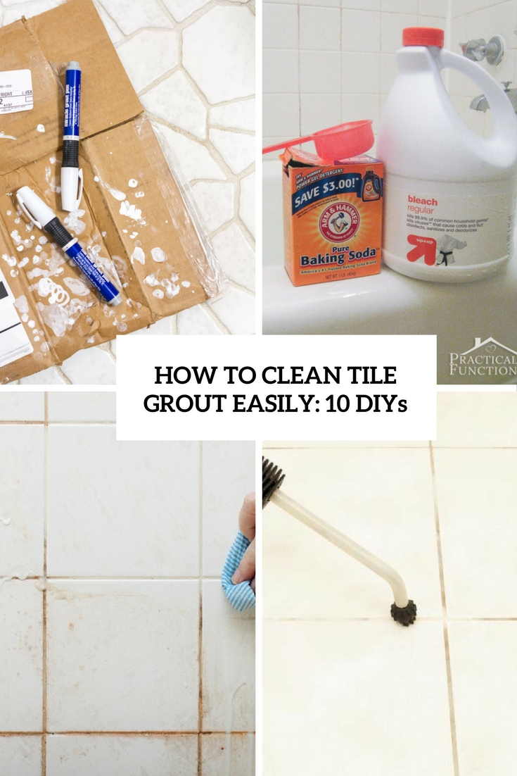 how to clean grout in bathroom tiles how to clean tile grout easily 10 diys shelterness 26065