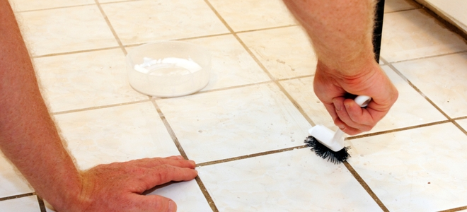 several DIYs ways to clean grout (via www.doityourself.com)