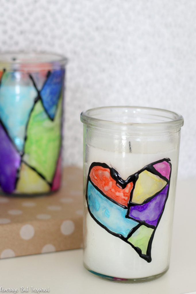 DIY stained glass with sharpies (via www.averageinspired.com)