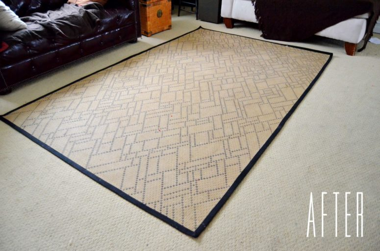DIY sharpie-decorated rug (via www.anestforallseasons.com)
