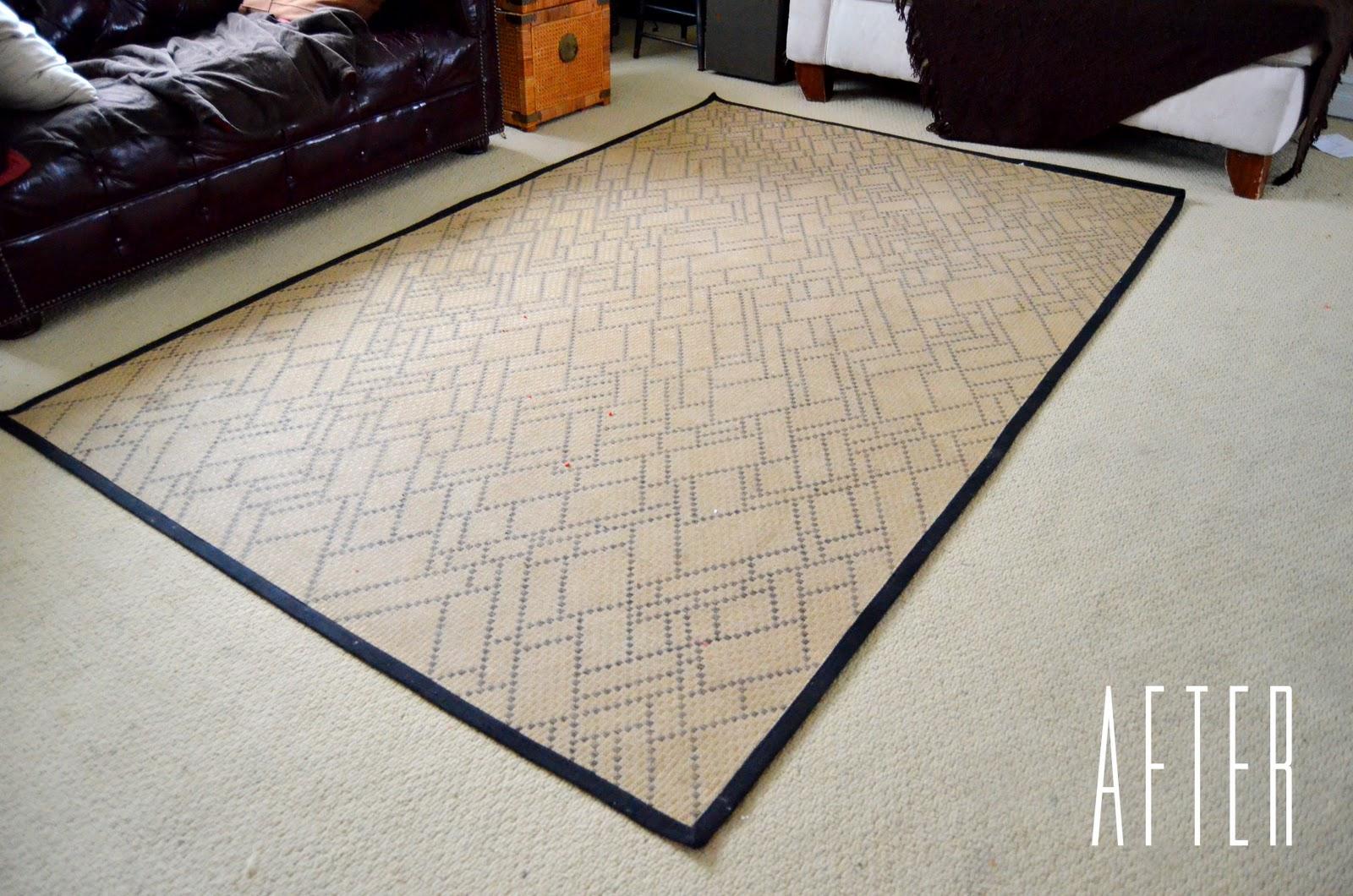 DIY sharpie decorated rug