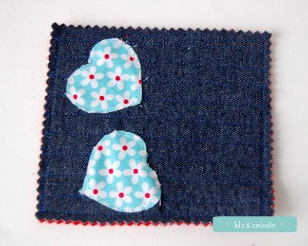 DIY felt heart coasters (via luluandceleste.com)