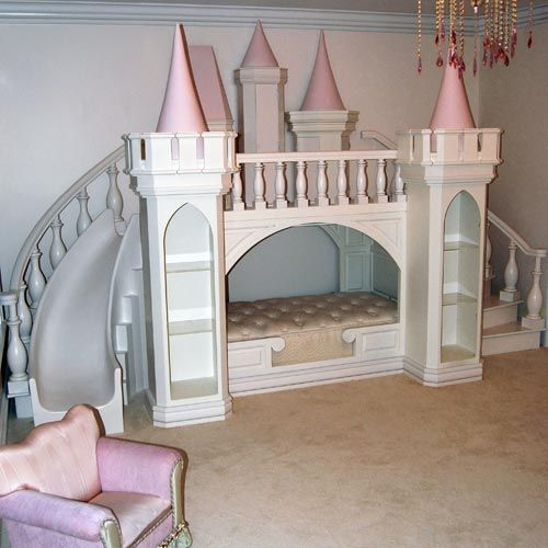 a castle as a playhouse and a bed in one is unique idea