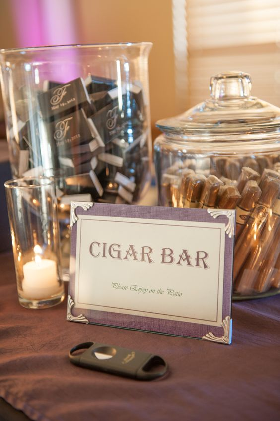 a cigar bar is what guys need instead of all these desserts