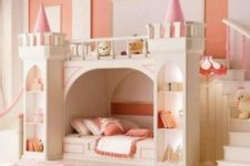03 a castle bed can have a lot of storage space and lights to make your daughter feel more comfortable