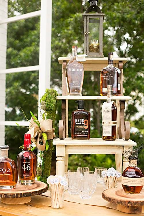 an outdoor bar in rustic style