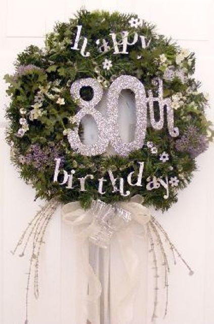 80th brithday wreath