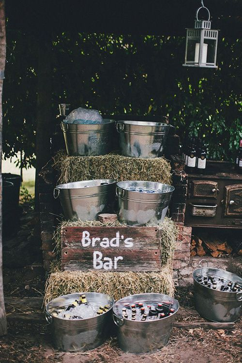 beer bar for a beer-themed or rustic party