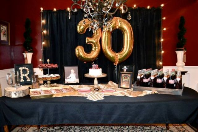 21 awesome 30th birthday party ideas for men shelterness for 30th birthday decoration ideas for her