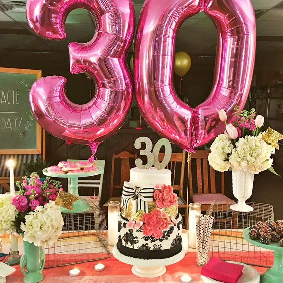 23 Cute Glam 30th Birthday Party Ideas For Girls Shelterness