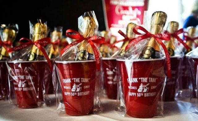 50th birthday party favors for a man party