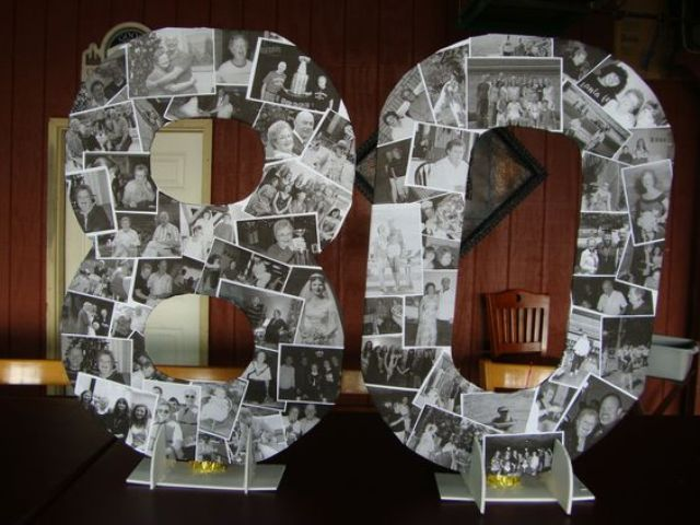 Make A Photo Collage Shaped As 80