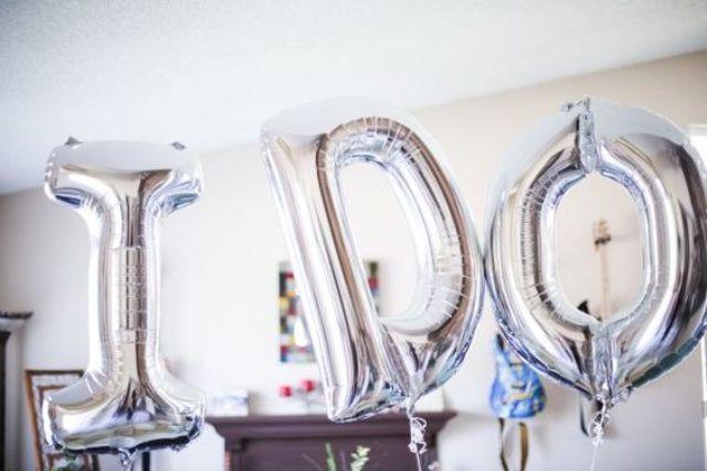 I DO silver letter balloons for bridal shower decor