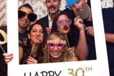 09 giant Polaroid frame for 30th birthday party photo booth