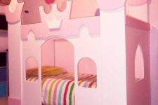 09 sweet pink castle bed with two floors can be ideal for a shared room