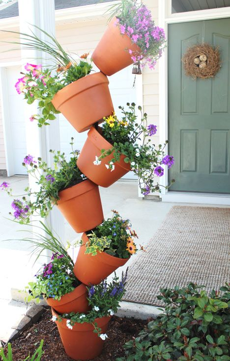 a topsy turvy planter will show off all the flowers you want